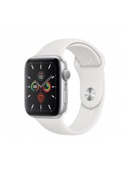 Apple Watch Series 5 GPS 44mm Silver Aluminium Case White Band - Смарт устройства