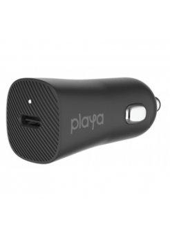 Зарядно устройство за кола Belkin - Playa 18W USB-C Black - Зарядни устройствa
