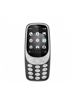Nokia 3310 3G Charcoa + силиконов калъф