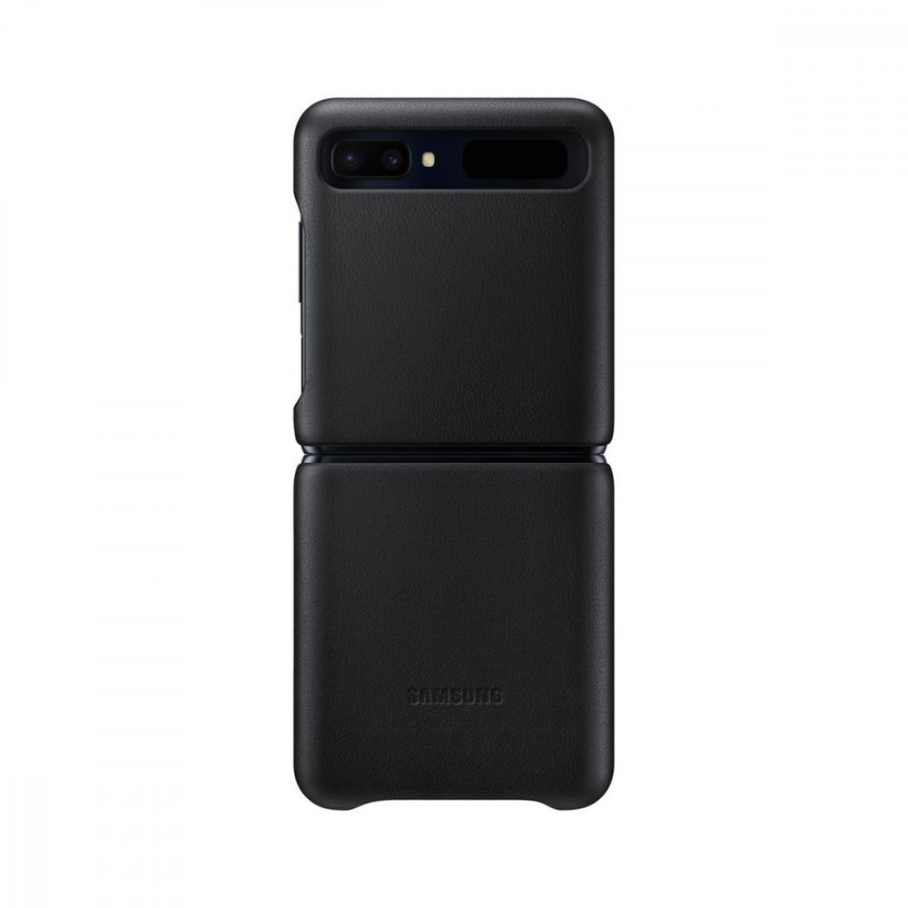 Калъф Оригинал Samsung Galaxy Z Flip EF-VF700LBEGEU Leather Cover, Black