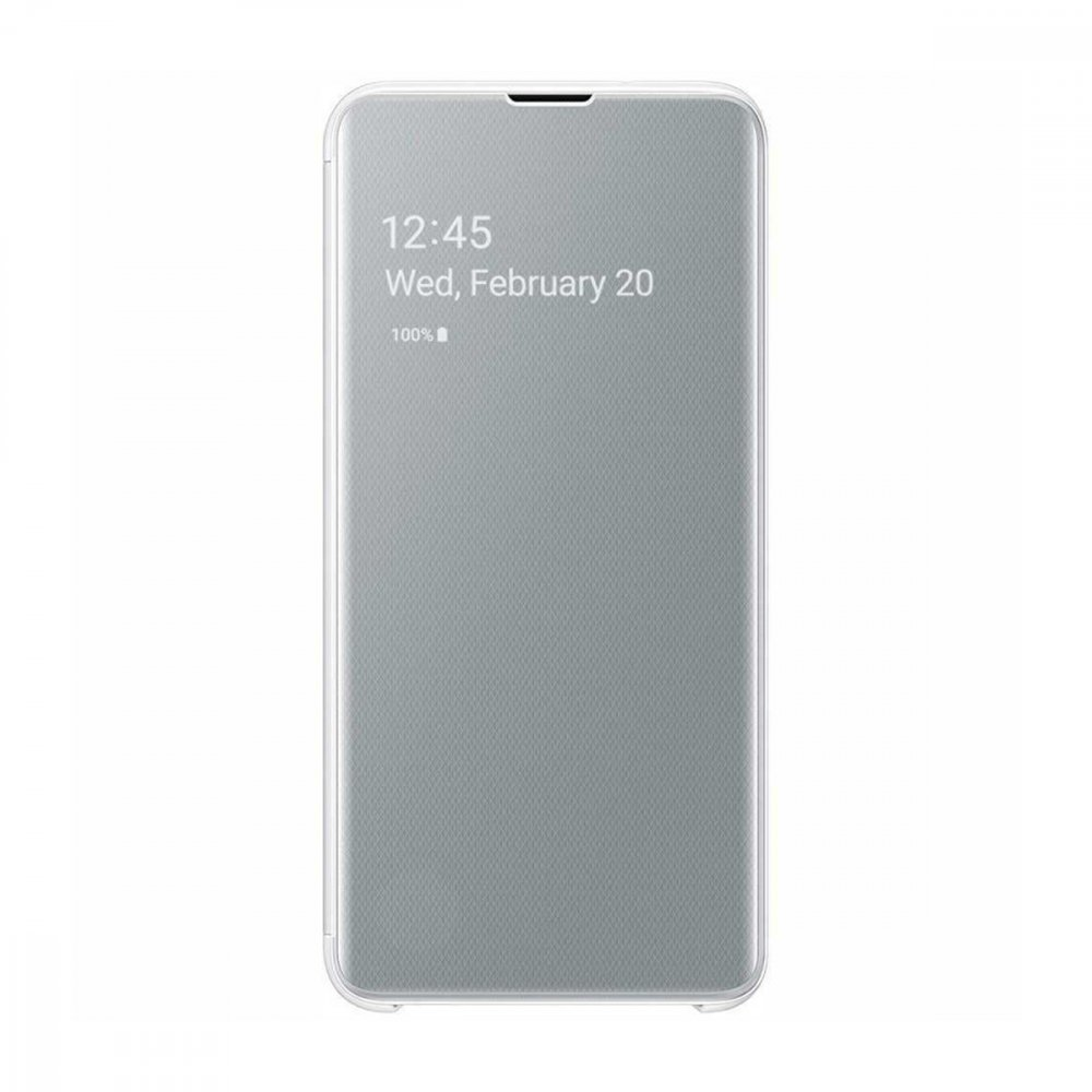 Калъф Оригинал Samsung Galaxy S10 Plus EF-ZG975 Clear View Cover White