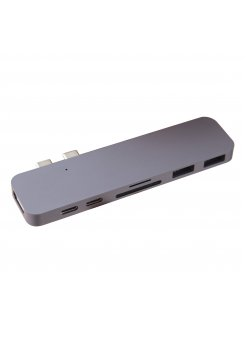 Подвижен USB-C Multiport Адаптер за Apple MacBook Air/Pro 7 в 1 - Аксесоари