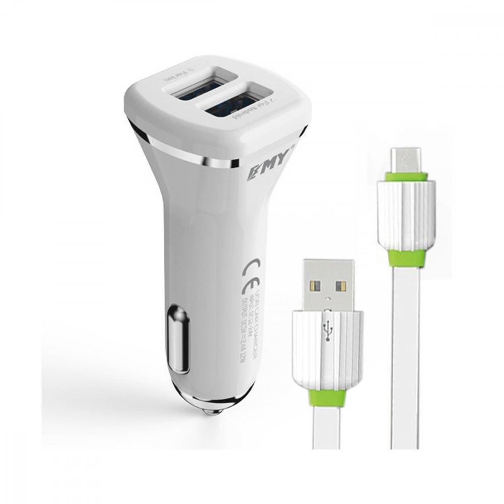 Зарядно устройство за кола EMY MY-114 Micro USB