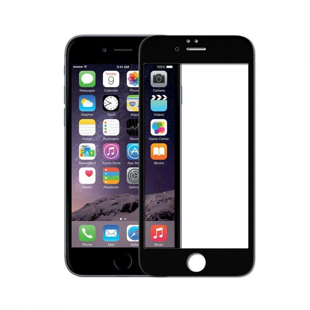 Стъклен протектор Apple iPhone 6/6S 3D Full Cover Black