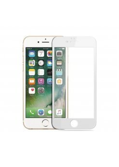 Стъклен протектор Apple iPhone 6/6S 3D Full Cover White