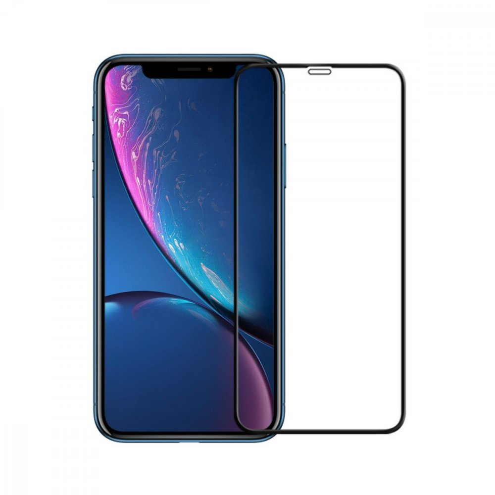 Стъклен протектор Apple iPhone XR 3D Full Cover Black