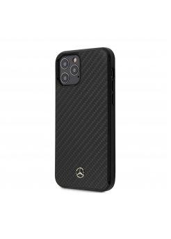 Калъф кожен за Apple iPhone 12 Pro Max Mercedes Black - Аксесоари