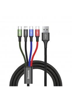 Универсален кабел Baseus Rapid 4-in-1 Black -
