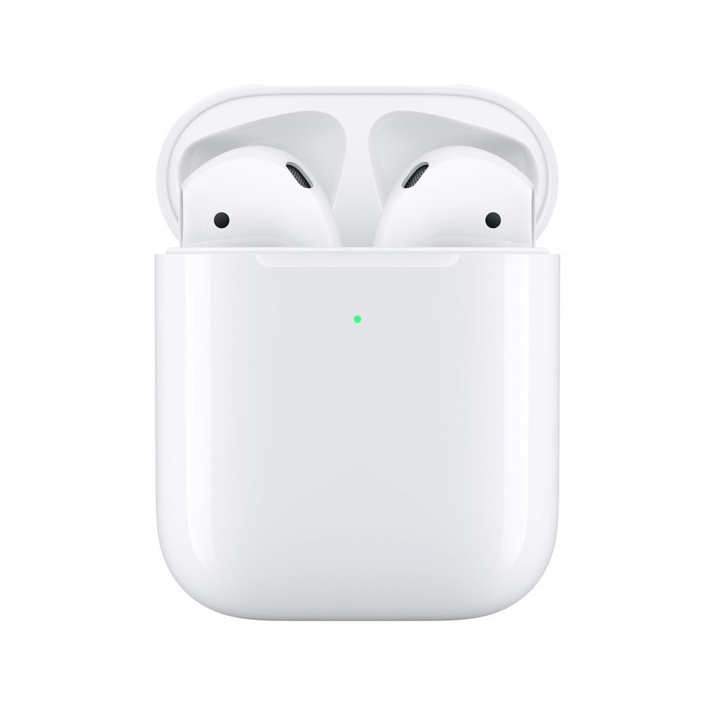 Безжични слушалки Apple AirPods 2 With Wireless Charging White
