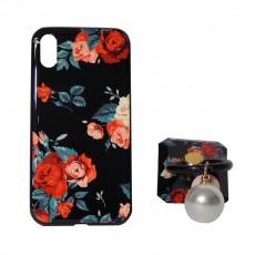 Калъф силикон + popsocket Fashion Case Apple iPhone X