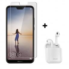 Промо пакет: Huawei P20 Lite Black + Стъклен протектро + Безжични слушалки Usams